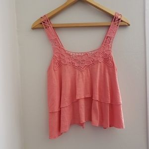 Forever 21 Pink Tank with open back